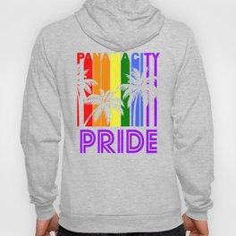 Panama City Pride Gay Pride LGBTQ Rainbow Palm Trees Hoody
