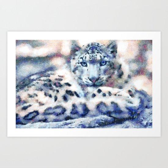 Snow Leopard by catyarte