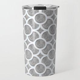 Grey Geometric Travel Mug