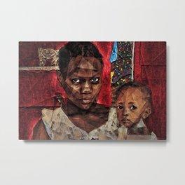 African American Portrait 'Madhattan to Harlem' Metal Print
