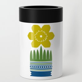 Nordic Yellow Flower Can Cooler