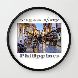 Rush Hour in Vigan City Wall Clock