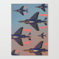 planes Canvas Prints featuring planes planes planes by Sarah Brust