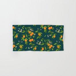 Citrus Tree - Navy Hand & Bath Towel