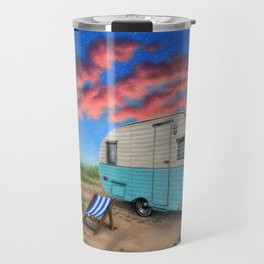 The Happy Camper At Night Travel Mug