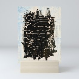 Scratched Seaside Mini Art Print
