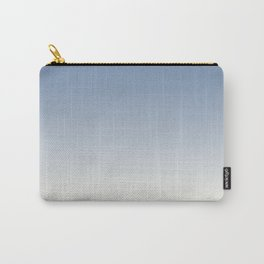 Pratt and Lambert Dusk Sky Blue 27-23 and Dover White 33-6 Ombre Gradient Blend Carry-All Pouch