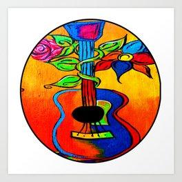Spanish Guitar painting Art Print