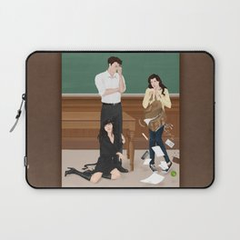 the professor, the pet and the frightened rabbit Laptop Sleeve
