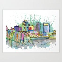 Shreveport Art Print