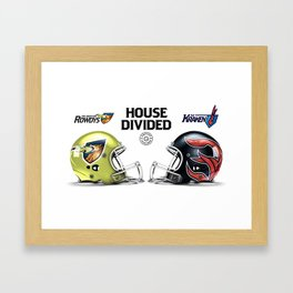 Rowdy / Kraken House Divided Framed Art Print