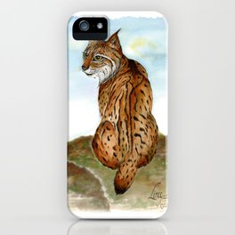 Iberian Lynx Watercolor iPhone Case
