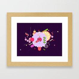 Tasty Visuals - Cherry Poppin' Framed Art Print