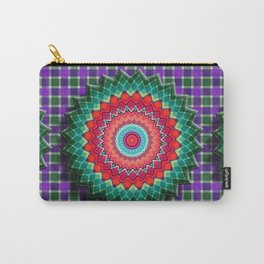 Plaid Flower Carry-All Pouch