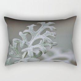 Silver Brocade Rectangular Pillow