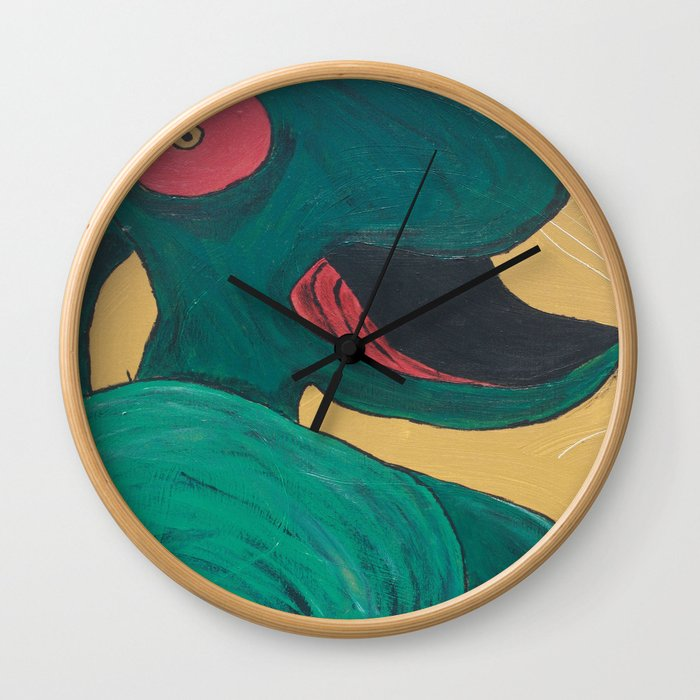 Swallowing Happiness Wall Clock