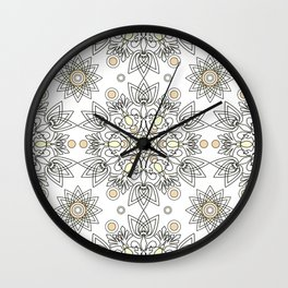 Openwork pattern on a white background. Wall Clock