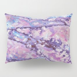 Violet and pink marble texture Pillow Sham