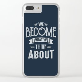 Think About - Motivation Clear iPhone Case