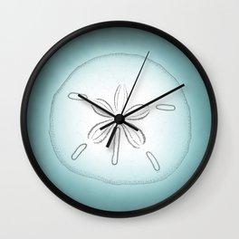 Sand Dollar Blessings - Pointilist Art Wall Clock