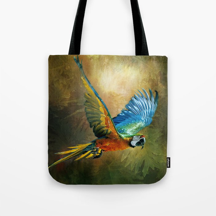 A Flash of Macaw Tote Bag