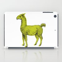 llama iPad Cases featuring llama by youareconstance