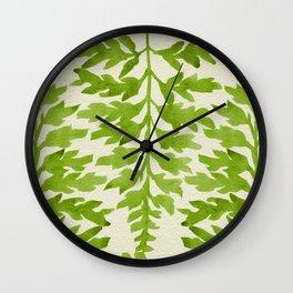 Lime Fern Wall Clock