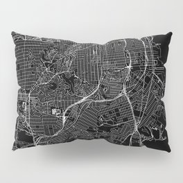 San Francisco Black Map Pillow Sham