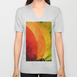 Collection beautiful colorful autumn leaves Unisex V-Neck