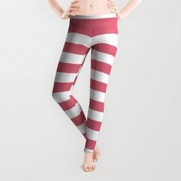 Large Nantucket Red Horizontal Sailor StripesLarge Nantucket Red Horizontal Sailor Stripes Leggings
