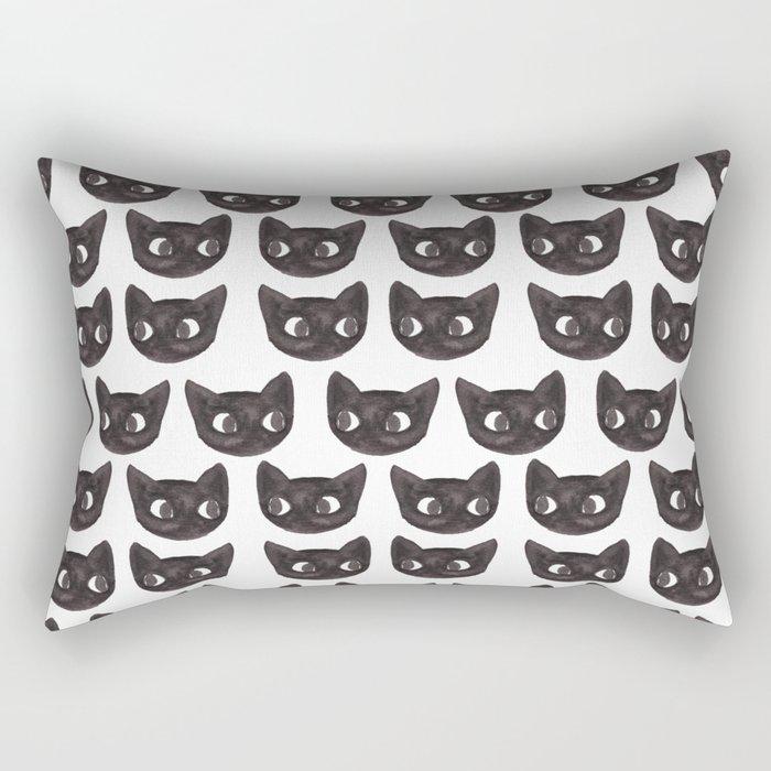 Black Cats // Lots of Black Cats Rectangular Pillow
