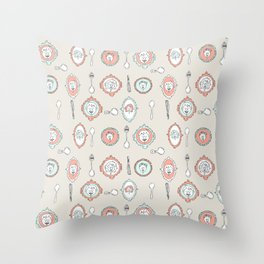 Spoon Koalas Throw Pillow