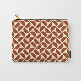 HALF-CIRCLES, BRICK RED Carry-All Pouch