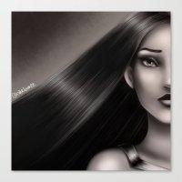 pocahontas Canvas Prints featuring Pocahontas by NikkiBeth