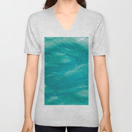 Aqua Waves Unisex V-Neck