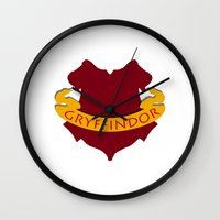 gryffindor Wall Clocks featuring Gryffindor by konchoo