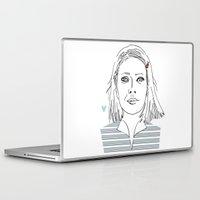 tenenbaum Laptop & iPad Skins featuring Margot tenenbaum / The royal Tenenbaum by Colomina Maevi