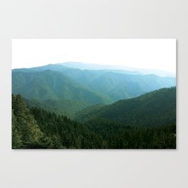 Summer Hues Smoky Mountains Painting National Park Art Mountain Nature Forest Landscape Canvas Print