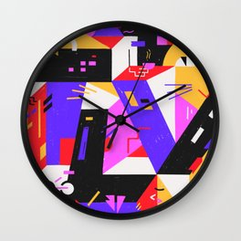 Multi-dimensional city Wall Clock