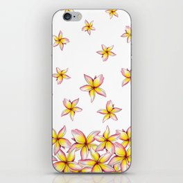 Lillies - Handpainted pattern - white background iPhone Skin