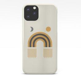 Sun and Moon Rainbow Midcentury style iPhone Case