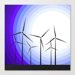 Windmills - Moonrise Canvas Print