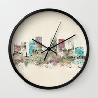 florida Wall Clocks featuring tampa florida  by bri.buckley