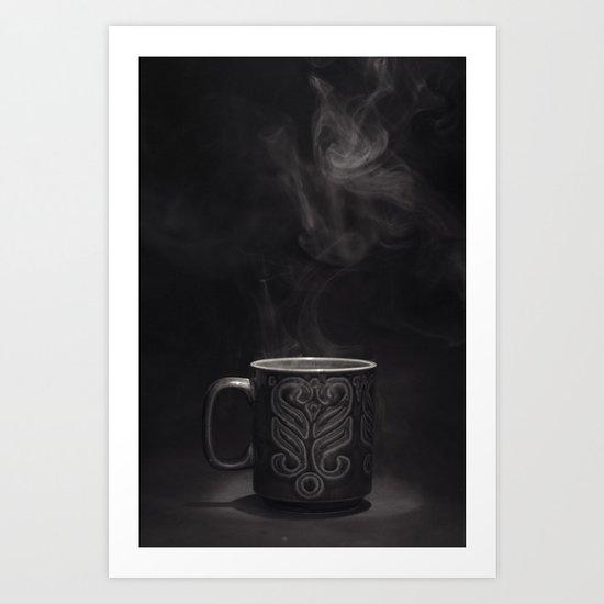 Coffee Black and White Photograph Art Print
