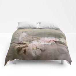 Eurasian Dove In The Garden Comforters