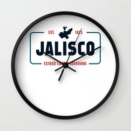 Jalisco Mexico State License Plate Design Wall Clock
