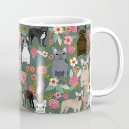 French Bulldog florals mixed coat colors dog breed pet must have gifts frenchies Coffee Mug
