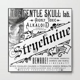 Victorian Ads Antique Poison Skull STRYCHNINE Metal Print