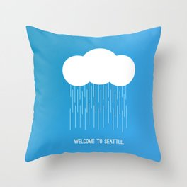 Simplistic Seattle  Throw Pillow