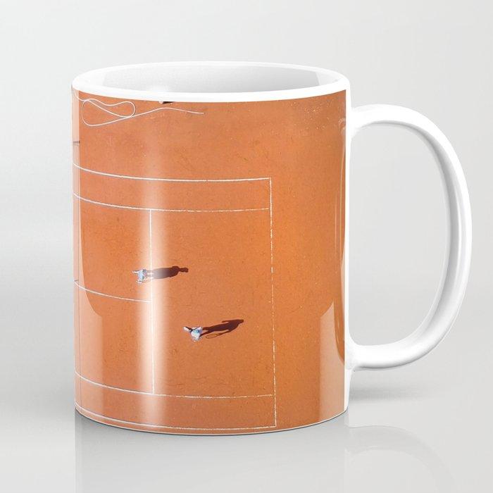 Tennis court orange Coffee Mug